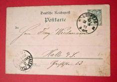 Halle Leipzig Postcarte Postcard to Franz Wiedemann on January 1893 Halle, Tunbridge Wells, Old Postcards, January, Ebay, Leipzig
