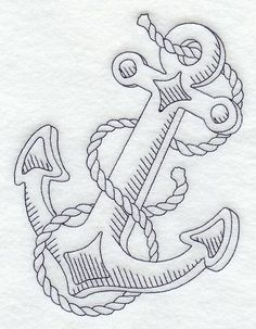 """Anchor and Rope  5.50""""(w) x 7.15""""(h)"""