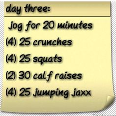 Day three...doing this tomorrow