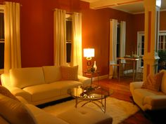 Burnt Orange And Brown Living Room burnt orange paint colors Burnt Orange Living Room High End Miami Flavor Walls Were Painted With A
