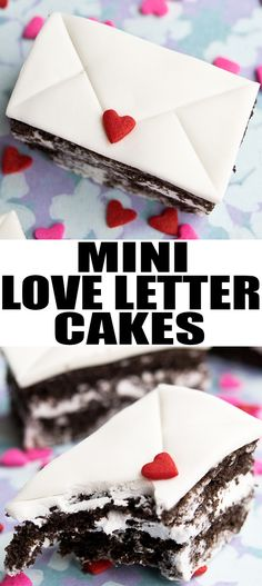Quick and easy MINI LOVE LETTER CAKES