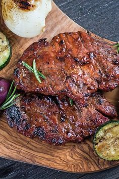 Low Calorie Honey Garlic Grilled Pork Chops Recipe with Ketchup, and Soy Sauce - Ready in 20 Minutes