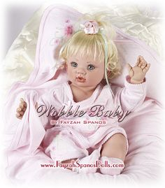 """Wobble Baby"" 2006 Collection by Fayzah Spanos www.fayzahspanosdolls.com www.thedollempire.com"