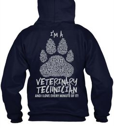 Have No Fear - Vet Techs Front and Back Printed Hoodie