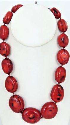 Mediterranean coral beaded necklace with sterling silver closure. Beaded Necklace, Closure, Sterling Silver, Jewelry, Beaded Collar, Pearl Necklace, Jewels, Schmuck, Beaded Necklaces