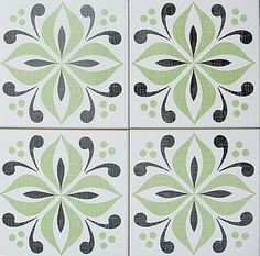 Bathroom - Cover Up Ugly Tile UK company Mibo makes waterproof Tile Tattoos, heavy-duty stickers that can be used to cover up existing tile patterns. When you move out, you can just peel them off. They're available at at 2Jane.com for $16 per set of 6.