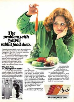 Vintage Ad #837: The Problem with (yawn) rabbit food diets | Flickr - Photo Sharing! Description from flickr.com. I searched for this on bing.com/images