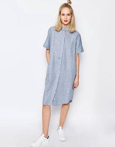 Image 4 - Samsoe & Samsoe - Linnes - Robe chemise longue à rayures