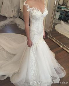 Vintage Mermaid 2016 Lace Wedding Dresses Beads Elegant Bodice Formal Bridal Gowns With Sweetheart Neckline Trumpet Court Train Custom Made Gowns Plus Size Wedding Dresses From Cinderella_shop, $149.59  Dhgate.Com