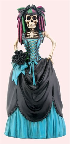 Day of the Dead gothic bride collectible figurine