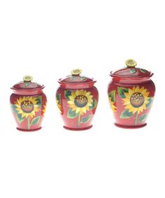Take a look at this Sun Blossom Canister Set by Certified International on #zulily today!