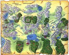 World map from the Shannara book series.