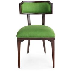 Kate Spade Worthington Chair ($2,035) ❤ liked on Polyvore featuring home, furniture, chairs, kate spade, green furniture and green chair