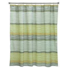Bacova Rhythm Shower Curtain in Yellow/Grey