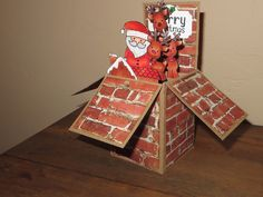 Online Card Class Wild Card Day One  This pop-up box is larger than the one Kristina made ...