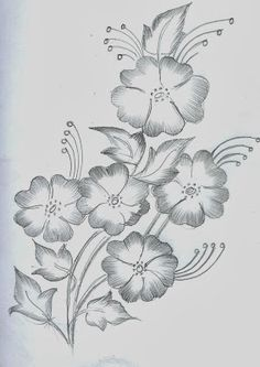40 Easy Flower Pencil Drawings For Inspiration Easy Flower Drawings, Beautiful Flower Drawings, Flower Art Drawing, Pencil Drawings Of Flowers, Girly Drawings, Art Drawings For Kids, Art Drawings Sketches Simple, Girl Drawing Sketches, Pencil Art Drawings