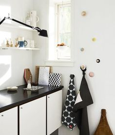 Cutting Boards and Hexagon Tea Towels by Danish OyOy, Remodelista