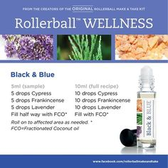 Don't be black and blue! Use these essential oils to promote healthy skin and circulation after an ocassional spill!