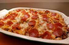 Pizza Pasta Casserole - 5 ingredients