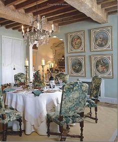 dining room - Ginny Magher Provence home Mas de Baraquet