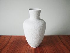 White Vintage Mid-Century vase German amphora porcelain vase bisque 70s 60s white porcelain ornamental decor matt bisque