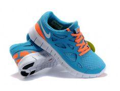 80e2e6fe78f Sky Blue White Orange Nike Free Run 2 Men s Running Shoes