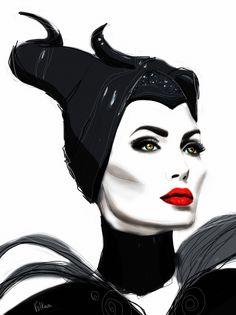 #art #illustration #portrait #face #Volkovaart #Maleficent