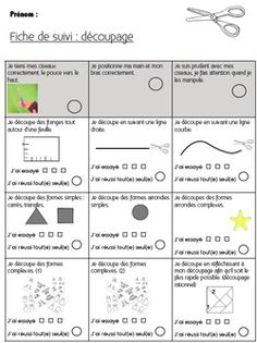 Feuille de route découpage idecole oK                                                                                                                                                                                 Plus Motor Skills Activities, Montessori Activities, Fine Motor Skills, School Classroom, Art School, Alternative Education, Math Division, Scissor Skills, Interactive Notebooks