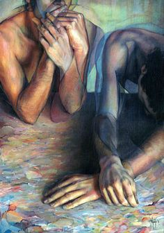 "Saatchi Online Artist David Agenjo; Painting, ""Self-analysis"" LOVE this so much!!!"