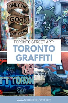 The best places to find street art in Toronto, Canada. #Canada #Travel #Toronto Canada Canada, Toronto Canada, Canada Travel, Toronto Street, Top Travel Destinations, Street Art Graffiti, European Travel, The Good Place, Good Things