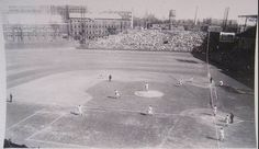 Crosley Field, Cincinnati, 10/2/40 - First game action from the 1940 World Series as Reds Jimmy Ripple singles home Ival Goodman vs Tigers