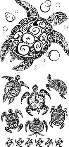 Tribal Turtle Tattoo designs are common among tribal men and women, and it has been also seen a craze among urban tattoo lovers. Tribal Turtle Tattoo represents traits and attributes of the animal. Ta Moko Tattoo, Hawaiianisches Tattoo, Armband Tattoo, Fiji Tattoo, Mann Tattoo, Tattoo Pics, Samoan Tattoo, Tattoo Flash, Tribal Turtle Tattoos