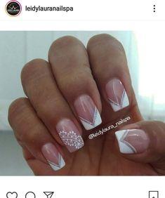 Belly Painting, Nail Art Designs, Nailart, Beauty, Finger Nails, Vestidos, White French Nails, French Nail Designs, Toe Nail Art