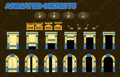 A set of vector game asset / graphic / sprite / art contains ground tiles and several items / objects / decorations, used for creating platformer games.  Suitable for platformer games with pyramid, ancient egypt, arabian, temple, persian, mesopotamian, babylonian, and or similar themes.  - Full vector, so you can scale it at any size, without losing it's quality. Also fully customizable. - File included: CorelDraw CDR, Adobe Illustrator AI, EPS, PDF, PNG, and JPG - Op...