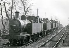 47425 Class and others Lickey Incline bankers. Steam Railway, Steam Engine, Steam Locomotive, Birmingham, Past, Transportation, Trains, Centre, Past Tense