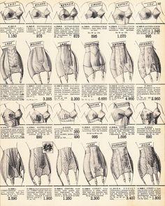 From La Femme Chez Elle (catalogue of Bon Marche department store), 1955. Vintage lingerie catalogue