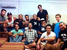 Extended Family:  This picture was taken on the Fourth of July last year (2012) in Kailua, Hawaii, showing Paul, Vince (second row, second left) and Ronn (second row, third left).
