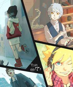 new team 7 modern Konohamaru, Sarada, Mitsuki, Boruto Anime Naruto, Naruto Fan Art, Sasuke X Naruto, Naruto Family, Naruto Couples, Boruto Naruto Next Generations, Gaara, Boruto And Sarada, Team 7