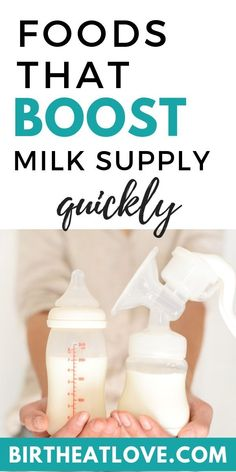 Best Foods to Boost Milk Supply Quickly boost milk supply by eating some of these breastfeeding foods. Adding nutrient dense lactation foods to your diet can help you increase our breast milk pr Boost Milk Supply, Increase Milk Supply, Lactation Recipes, Lactation Cookies, Lactation Foods, Breastfeeding And Pumping, Breastfeeding Smoothie, Breastfeeding Nutrition, Fantastic Baby