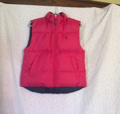 Ralph Lauren Girls Reversible Puffy Vest Size 6-6X #RalphLauren #Vest