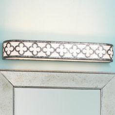 Quatrefoil Bar Bath Light, via shades of light. Unique, vintage with a modern twist.