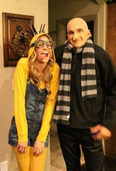 Minion and Gru  sc 1 st  Pinterest & Dress Like Gru | Pinterest | Costumes Halloween costumes and ...