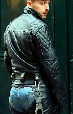 Just a Leather addicted Guy From Germany: Photo Boys Leather Jacket, Biker Leather, Leather Men, Leather Boots, Leather Jackets, Jacket Men, Men In Tight Pants, Hunks Men, Men In Uniform