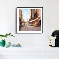 High Quality Nostalgic Town Landscape Decoration Painting Canvas Art Picture Wall Pictures Posters Prints Home Decor No Frame