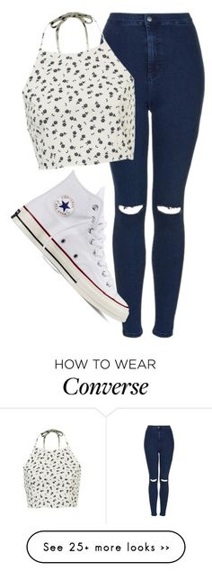 """""""Untitled #1090"""" by abbeycadabbey on Polyvore featuring Topshop and Converse"""