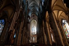 Inside the Cologne Cathedral, Germany.  via  http://everything-everywhere.com/