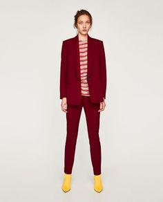 ZARA - COLECCIÓN AW/17 - PANTALÓN TRAJE PITILLO Smoking, Blazers For Women, Suits For Women, Women's Blazers, Trouser Suits, Trousers, Pants, Pantalon Costume, Skinny Suits