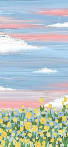 Artistic Wallpaper, Anime Scenery Wallpaper, Iphone Background Wallpaper, Painting Wallpaper, Aesthetic Pastel Wallpaper, Aesthetic Wallpapers, Kawaii Wallpaper, Disney Wallpaper, Cartoon Wallpaper