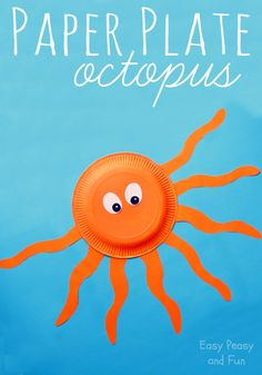 Paper Plate Octopus - Paper Plate Crafts