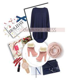 """Oversized dress"" by melisa-hasic ❤ liked on Polyvore featuring Chloé, J.Crew, Kate Spade, NARS Cosmetics, Smythson, polyvorecontest, holidaystyle and oversizeddress"